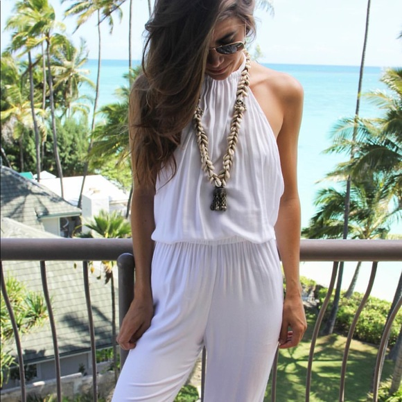 86da7c1075a Indah Pants - Indah Tang Open Back Jumpsuit Long Romper White sm